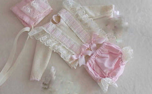DANNI SET (top bottoms and bonnet)
