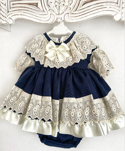 EXCLUSIVE Lucia Dress Set Navy