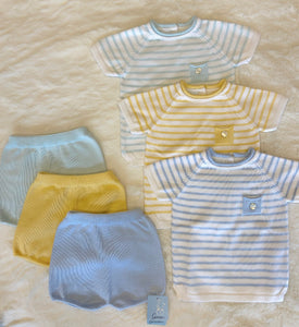 Granlei stripes shorts set
