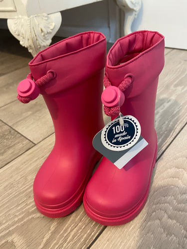 FUSCIA Igor wellies