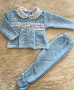 TAYLOR Knitted set Blue 666