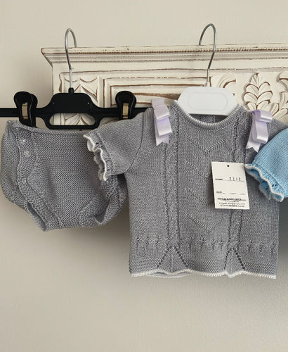 2212 knitted set GREY 655