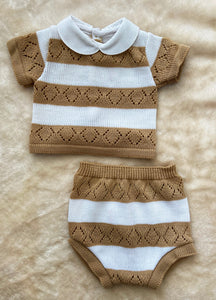 LOU Knitted Set Camel 666