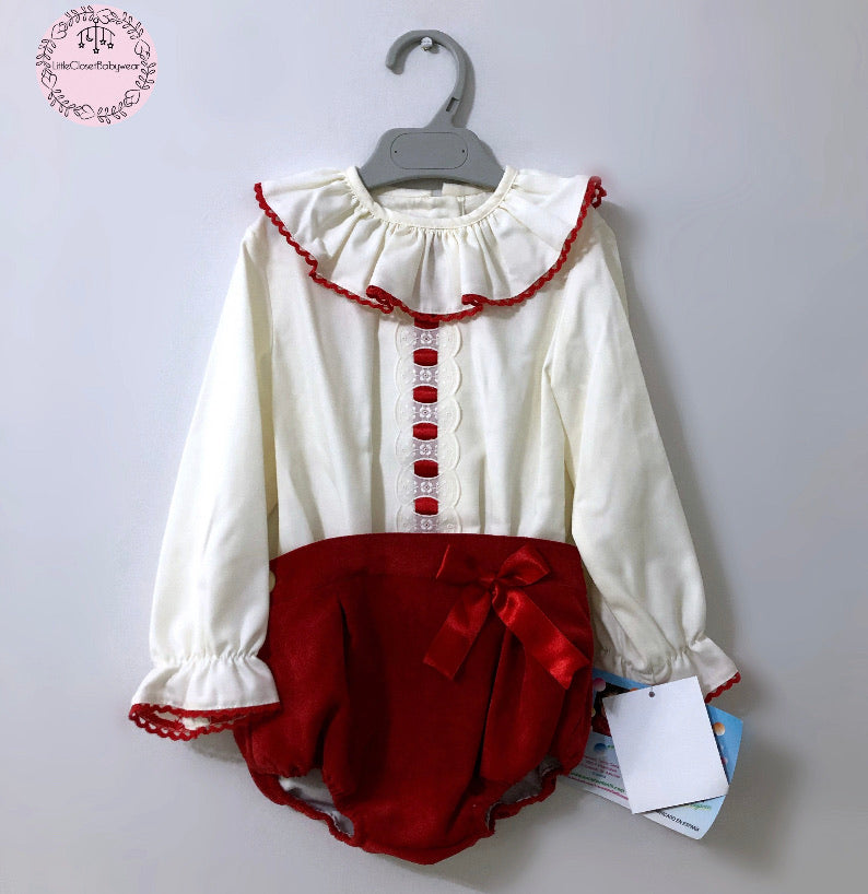 RUBY Romper and Bonnet