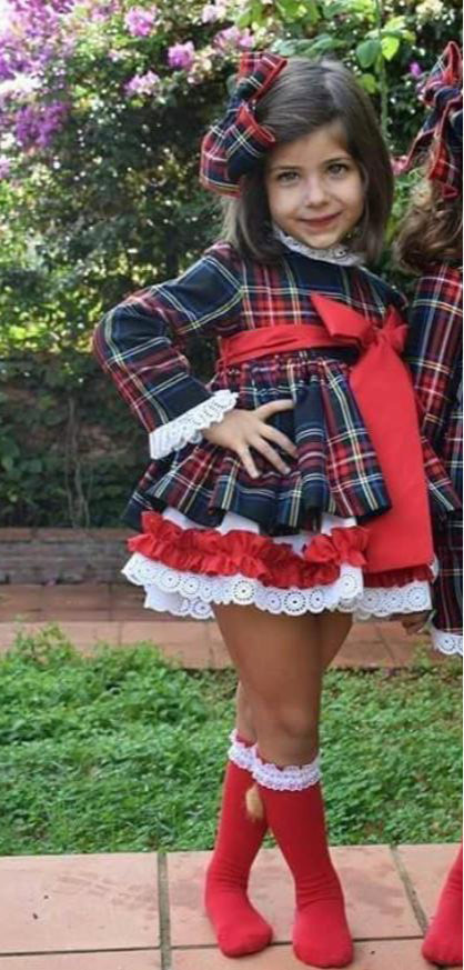 LUNA TARTAN2 DRESS