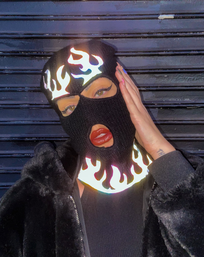 FLAME SKI MASK - Reflective