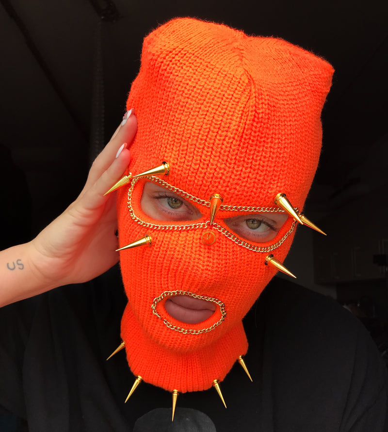 Pumpkin Head Ski Mask