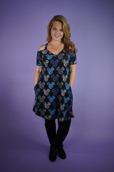 Blue Safari Mouse Gracie Dress