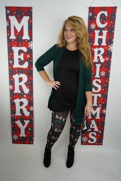 Trendy Holiday Bows Leggings