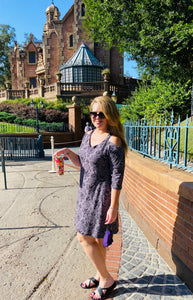 Gray Haunted Mansion Gracie Dress