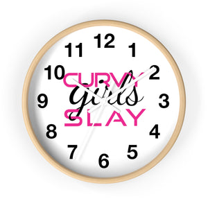 Curvy Girls Slay Wall clock