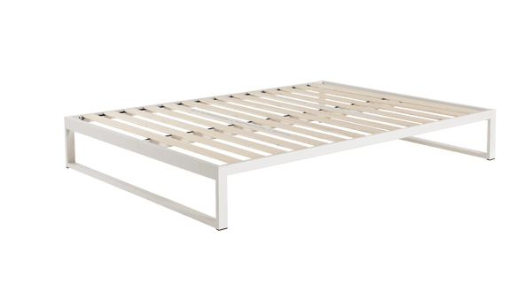 Mínimo - Snow White Steel Bed Frame | KEETSA
