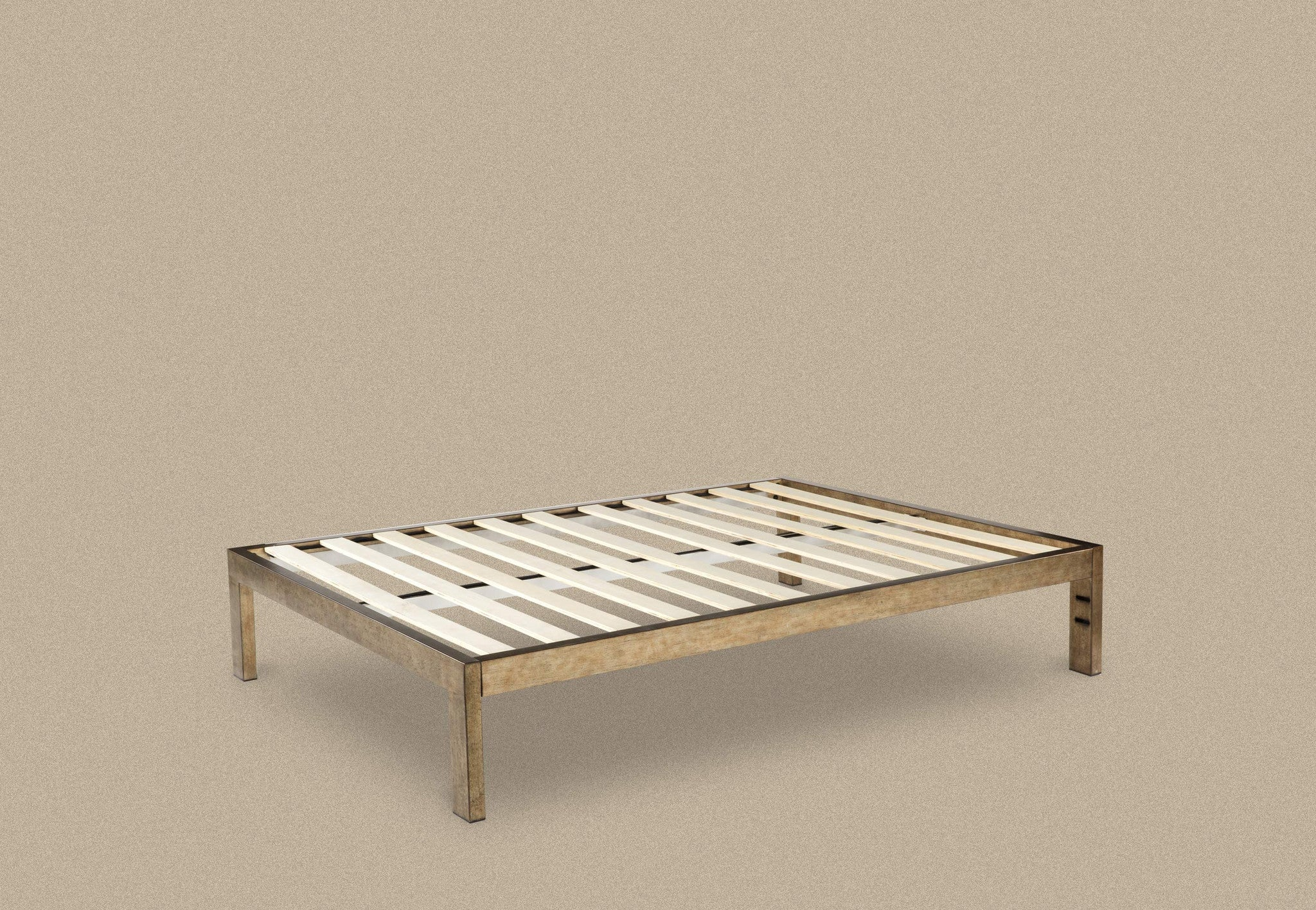 KEETSA - The Frame : All new designed, gold brushed steel bed frame.