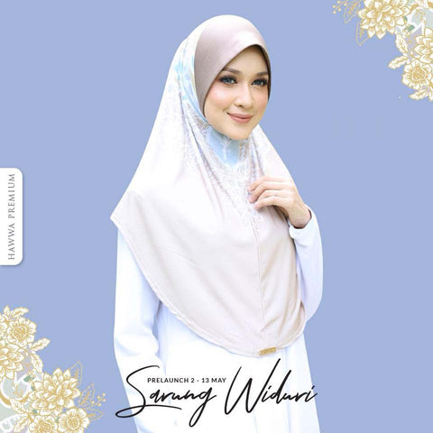 Hawwa Premium hijab Widuri in Brown Dewi [XL]