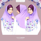 Hawwa Premium hijab Widuri in Purple Anggun [XL]
