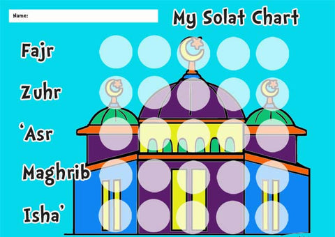 My Solah chart (free download & print)