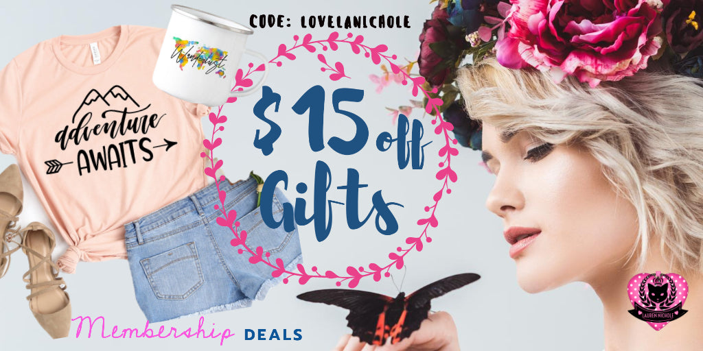 Spread the Love and buy your love one a gift! $15 off T Shirts, mugs, and more. Exclusive deals for LaurenNichole members. Just enter code: LOVELANICHOLE