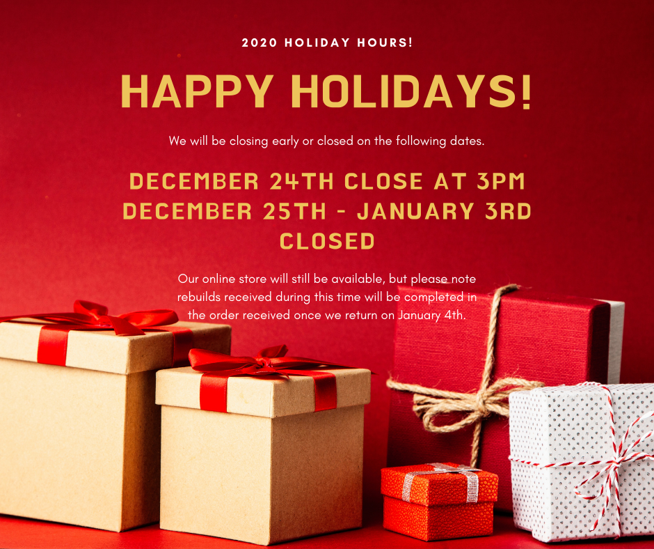 Holiday Hours 2020!
