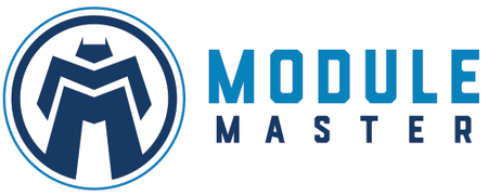 Blue robot superhero icon to the left of Module Master name.