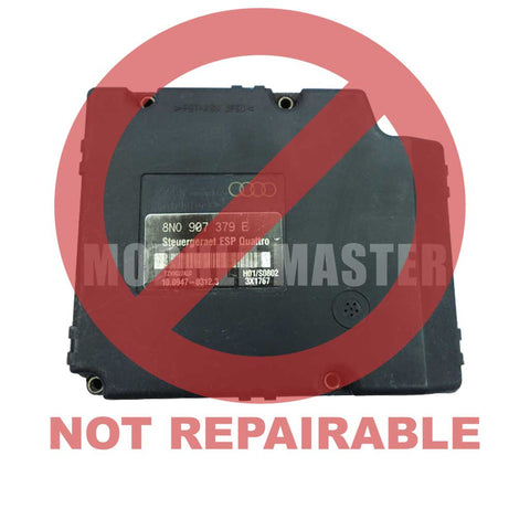 Ate Mark 20 ESP Audi ABS Module. Red watermark that says not repairable across module.