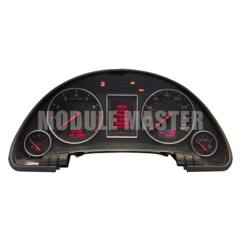 2002-2008 Audi A4 S4 Red LCD Instrument Cluster for Dashboard