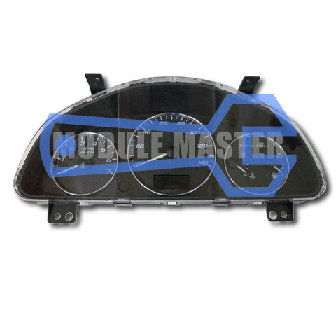 2003-2008 Chevrolet Malibu instrument cluster with four gauges and small screen under speedometer.