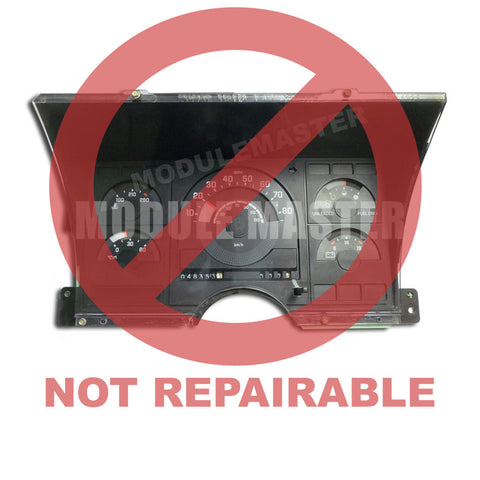Chevrolet Chevy Silverado / GMC Sierra (1988-1992) Instrument Cluster Rebuild - Module Rebuild. Red watermark that says not repairable across cluster.