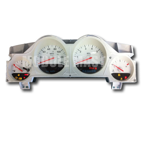 Dodge White Instrument Cluster with four gauges for Charger and Magnum vehicles.