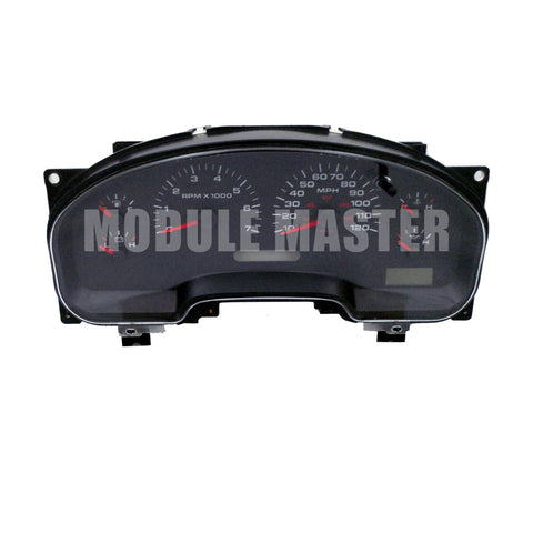 Ford F150, F250, F350 instrument cluster with five gauges.