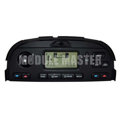 Jaguar S-Type Climate Control Panel for vehicles without navigation. Includes buttons and small LCD screen.