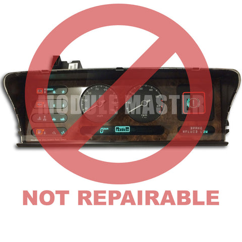 Jaguar Vanden Plas Digital Instrument Cluster with red Not Repairable watermark over it.