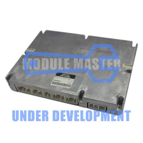 Jaguar XJ8 XK8 Electronic Control Unit (ECU) top view with barcode sticker.