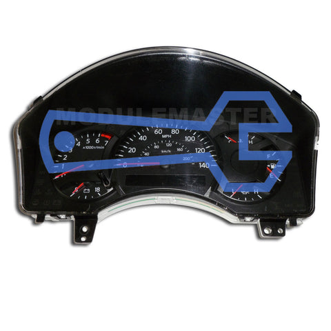 Nissan Sentra Instrument Cluster with four gauges and a small rectangular screen under the speedometer.