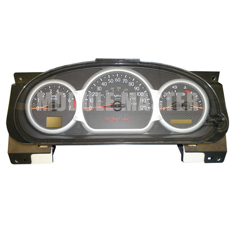 Pontiac Bonneville Instrument Cluster with four gauges. Two screens on either side of the cluster.