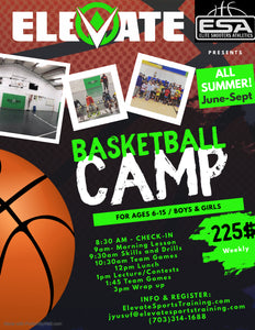 Summer Basketball Camps June - Sept  ALL AGES AND SKILLS WELCOME