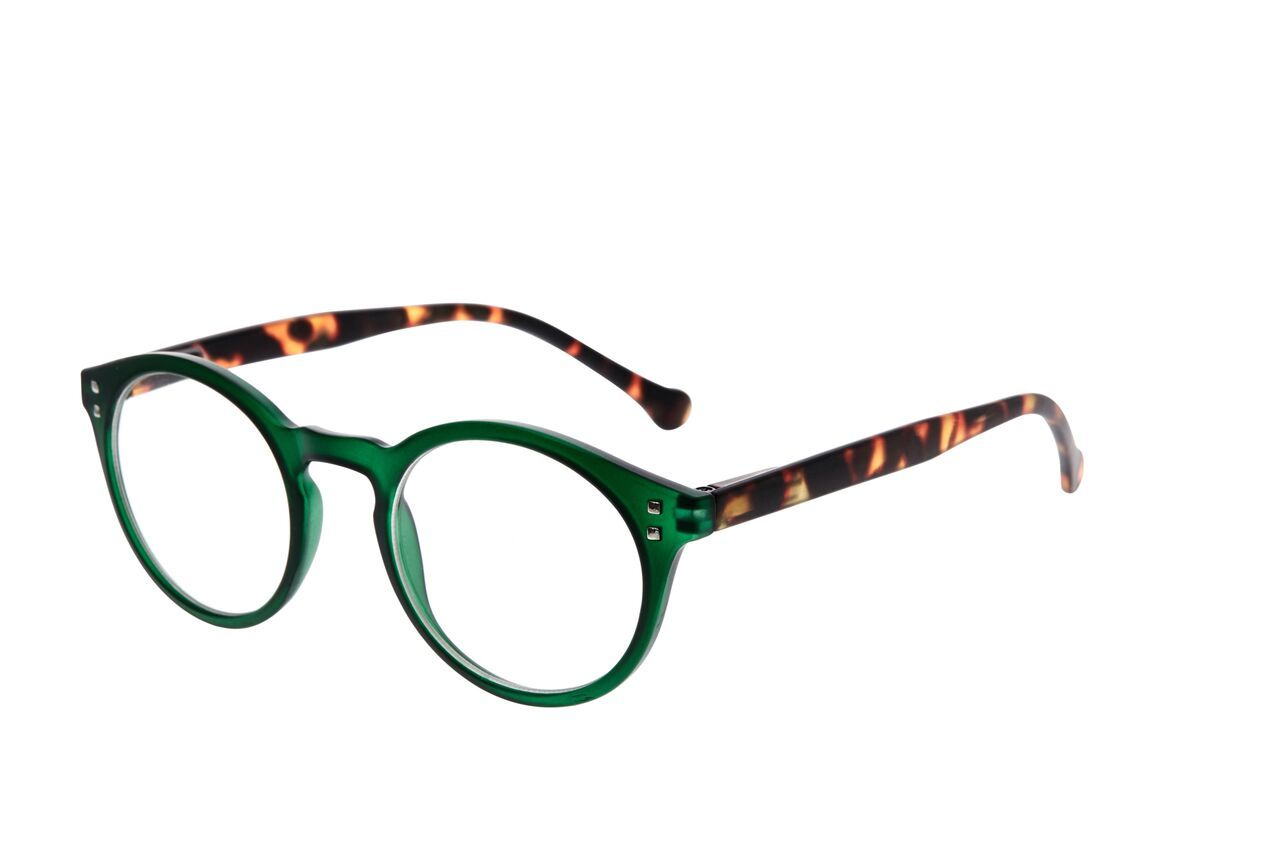 7am Green Reading Glasses