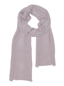 Bethnal Cable Scarf in Blush