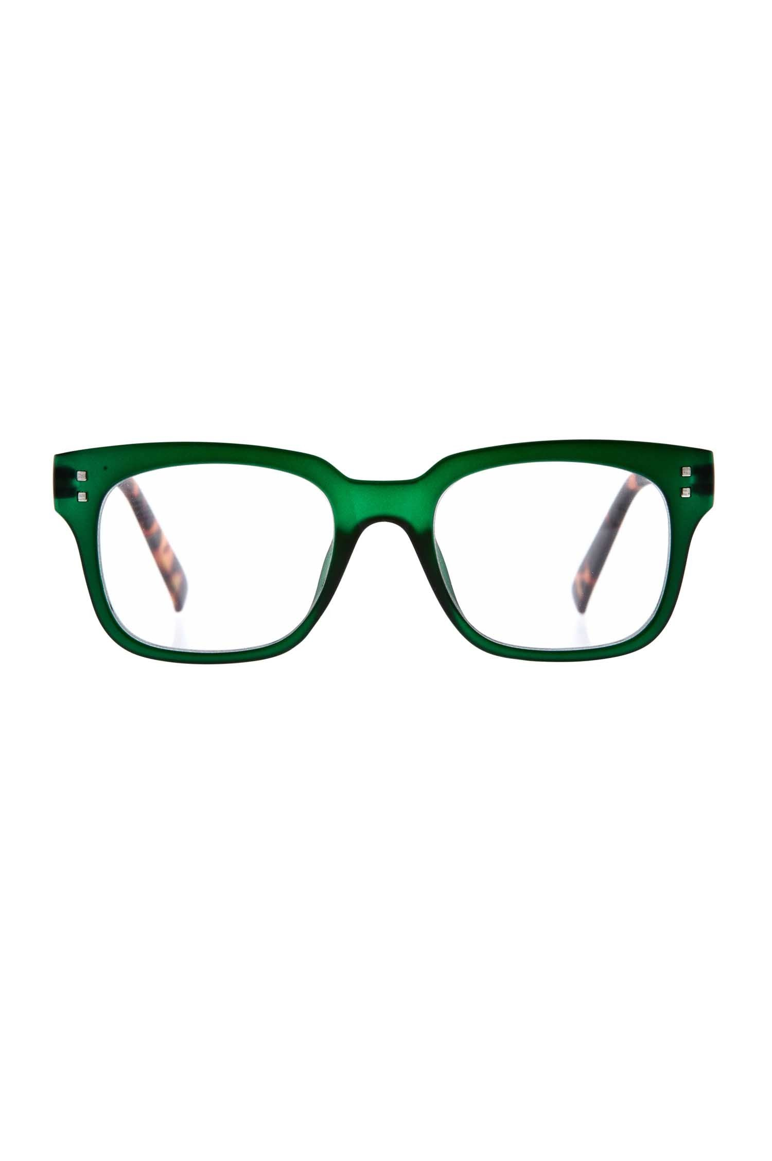 6am Green Reading Glasses