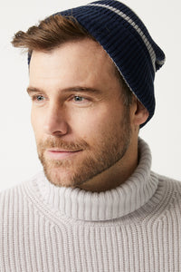 Grampians Beanie in Blue/Navy