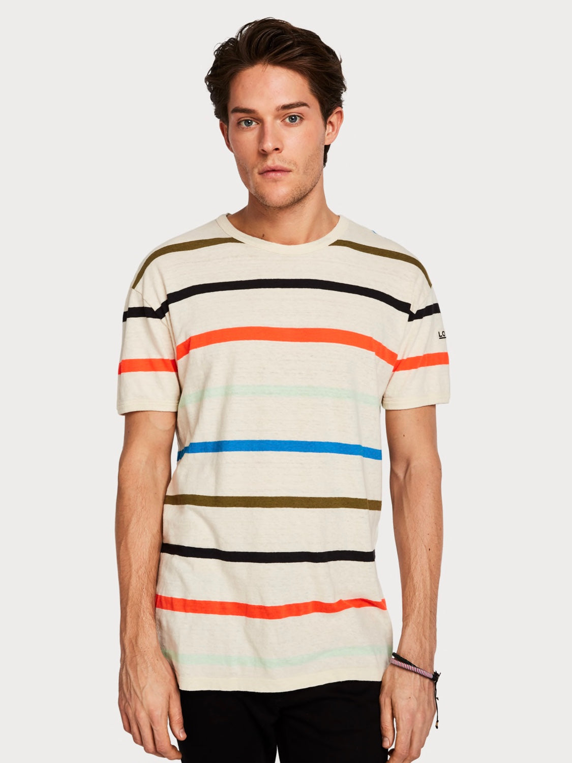 Altitude Stripe Cotton Linen Tee