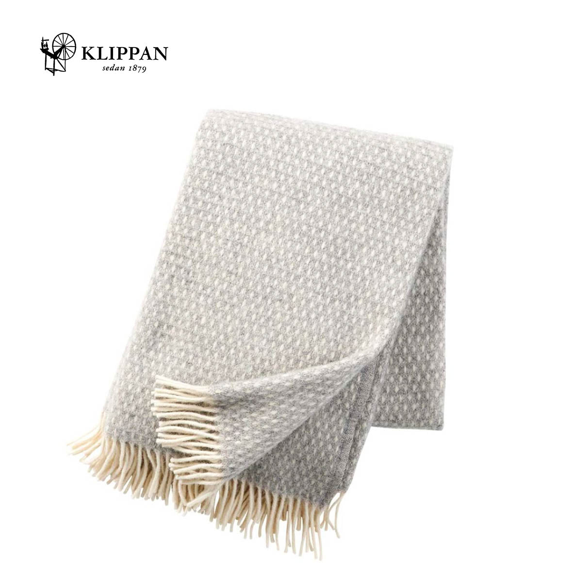 Knut Light Grey Throw