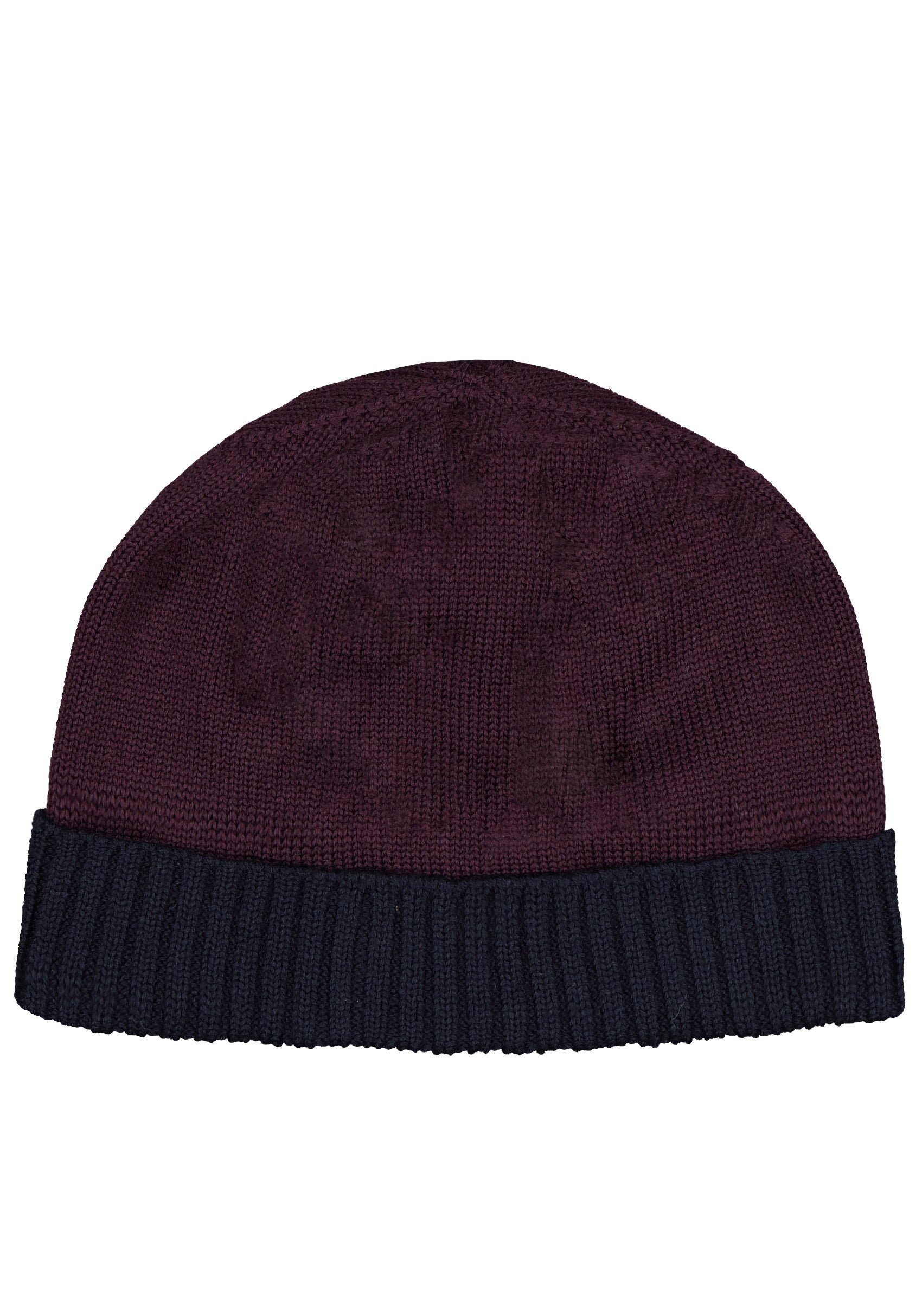Two Tone Beanie in Navy- Balsamic