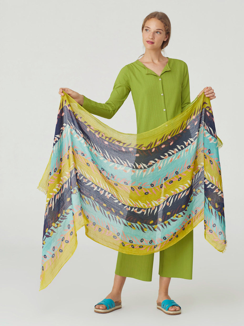 Live & Twig Scarf in Lime