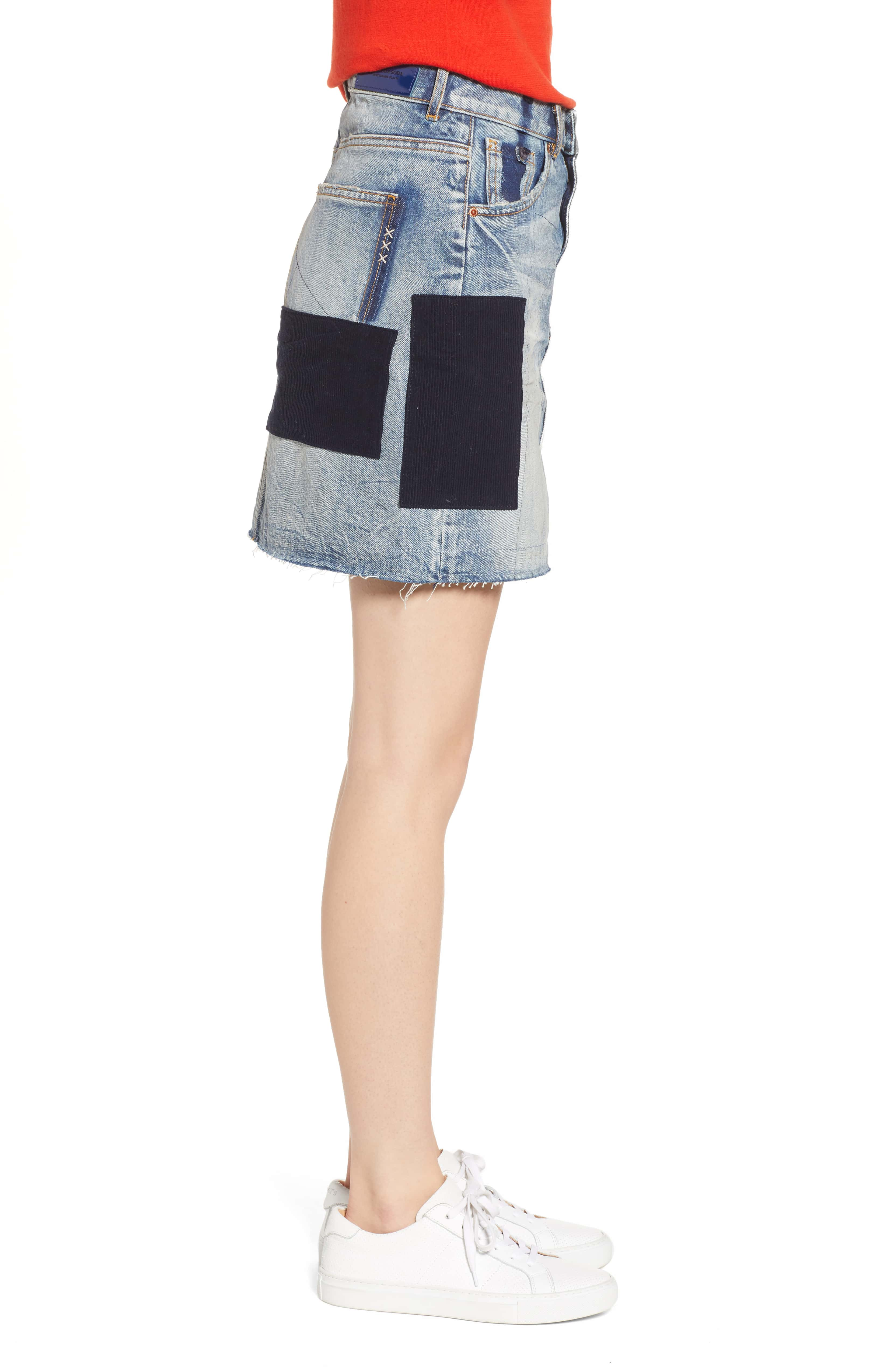 Denim Skirt with Freak Applique