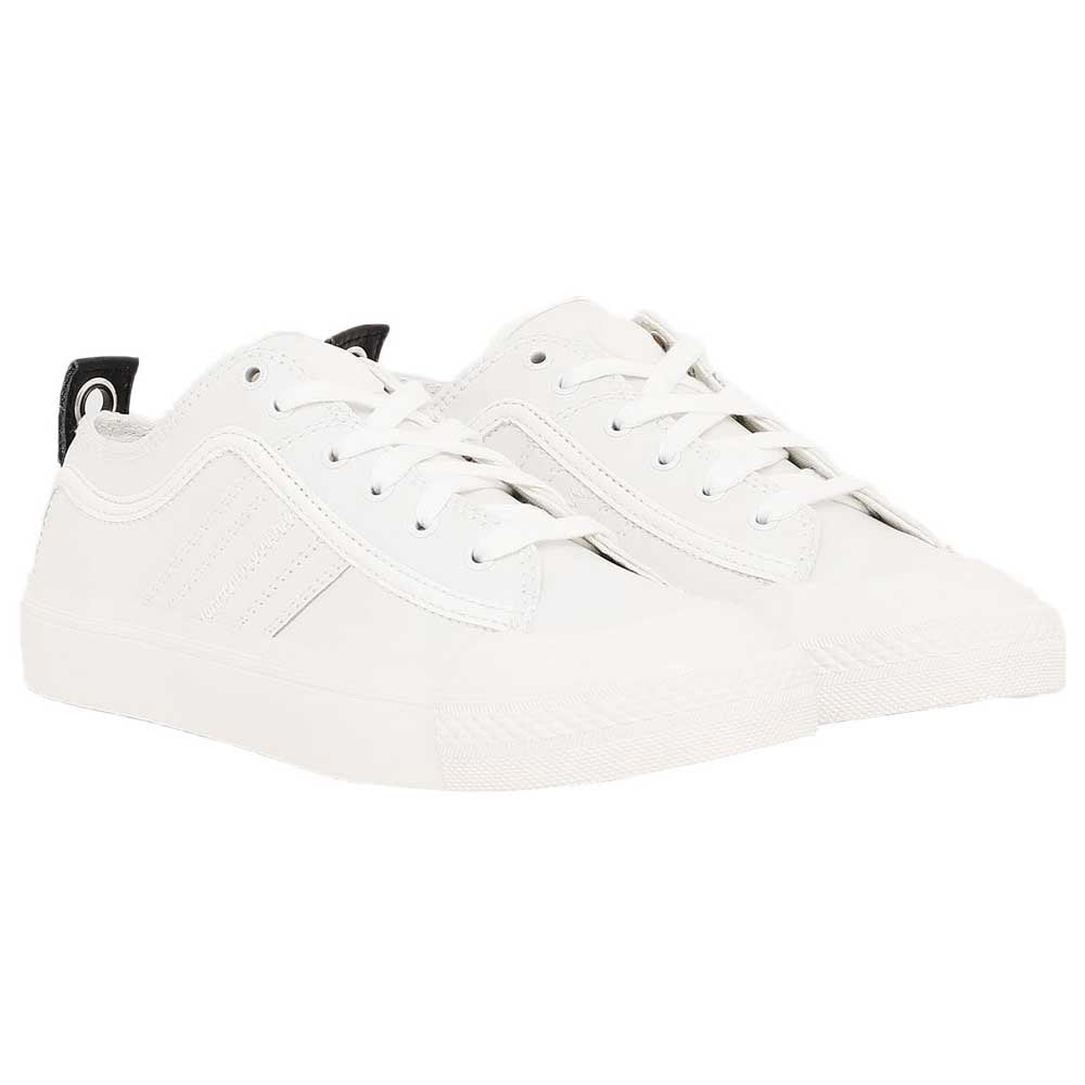S-Astico Low Lace Sneakers in White Leather