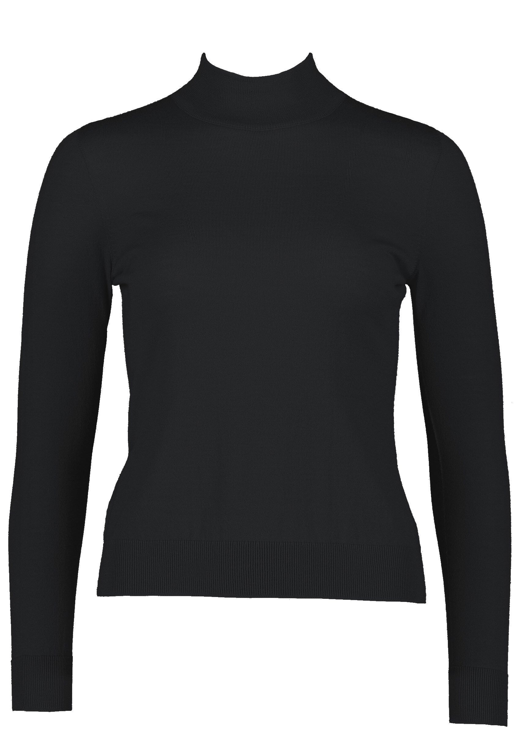 Long sleeve 50's polo. Black