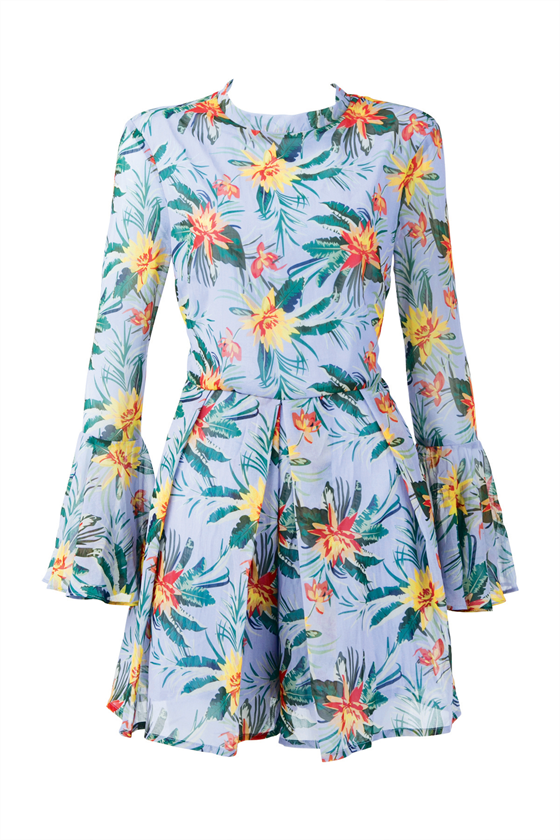 Playsuit Of Happiness Jumpsuit. Lilac Floral
