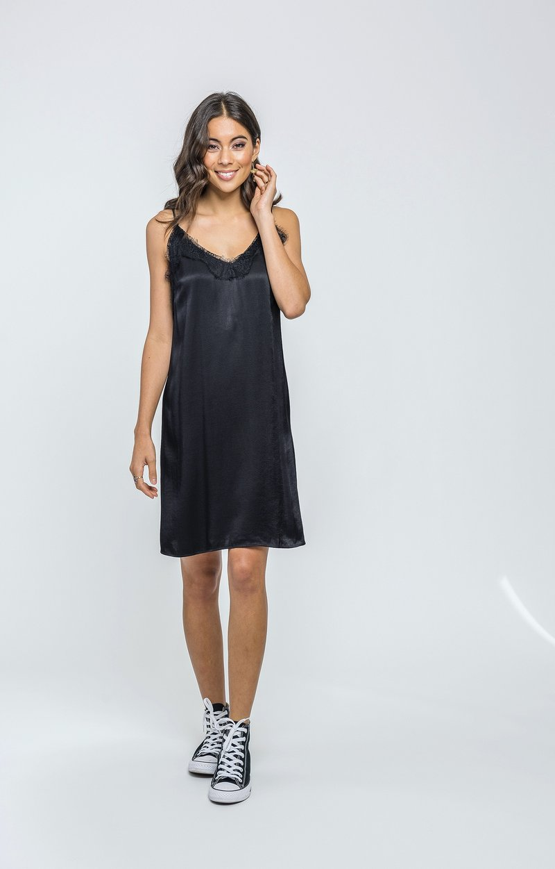 Satiny Slip in Black