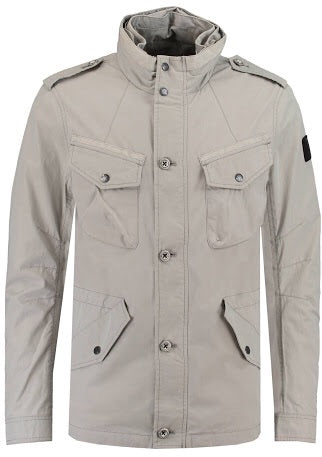 Jacket with pockets. Zinc