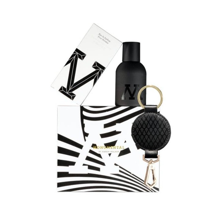 Monumental 50ml Gift Set with Black Leather Key Ring